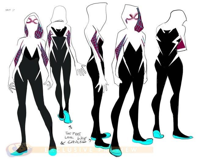 Edge of Spider-Verse Spider-Woman concept art