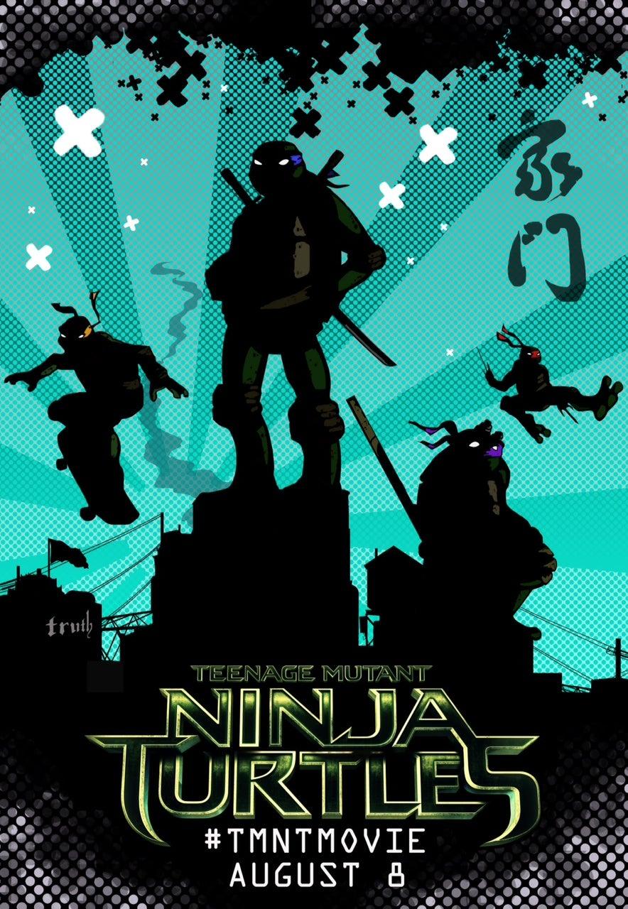 teenage mutant ninja turtles movie new posters released