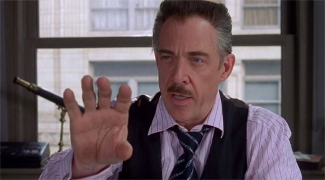 j k simmons might play j jonah jameson in future spider man movies