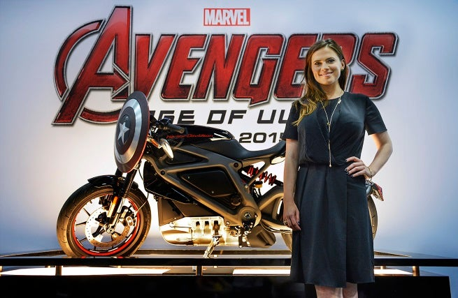 Avengers Age Of Ultron Cast With Harley Davidson S