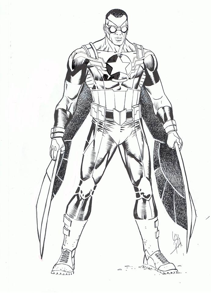 falcon avengers coloring pages - photo#1