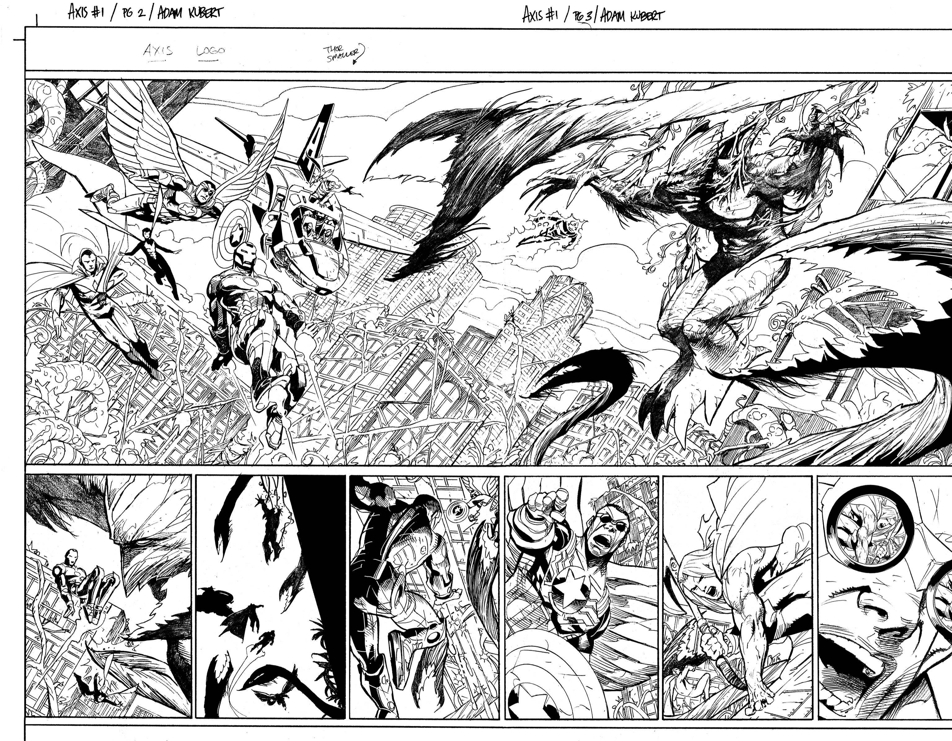 Comic Book Cover Black And White : Avengers men axis first look at interior art released