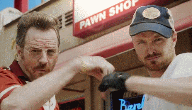 Barely Legal Pawn Trailer With Bryan Cranston And Aaron Paul Promotes The Emmy Awards