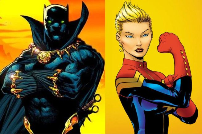 Black Panther & Captain Marvel