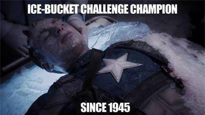 Captain America Chris Evans Takes The Als Ice Bucket Challenge In A