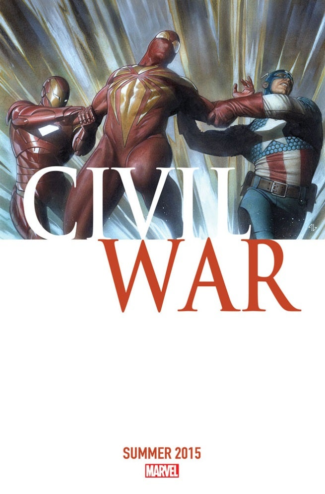 A cover from Marvel's Updated civil war comics coming to stores in 2015
