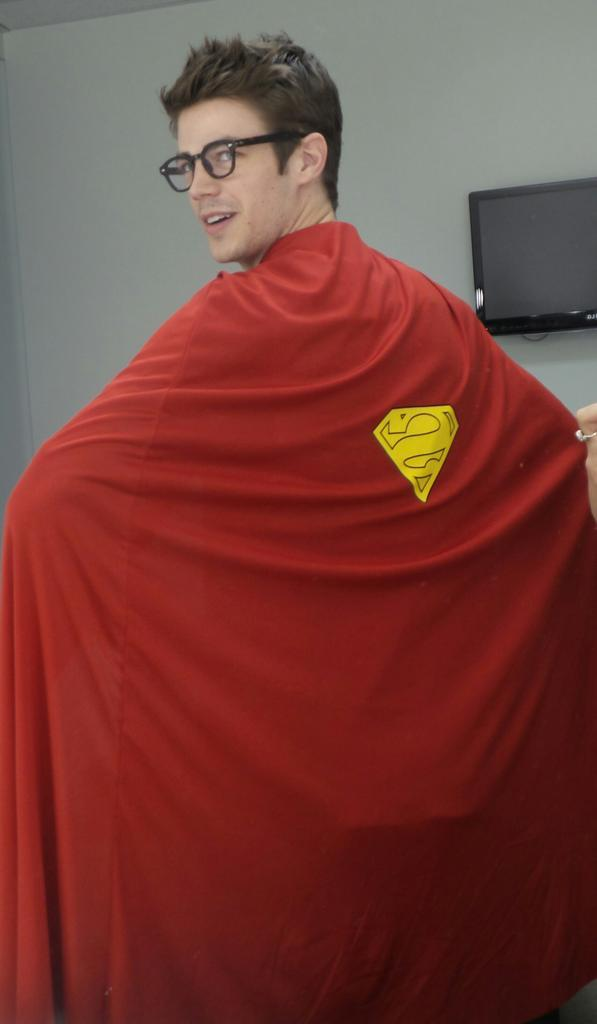The Flash's Grant Gustin Wearing Superman Costume on The View