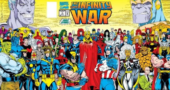 Infinity War Comic Book Cover