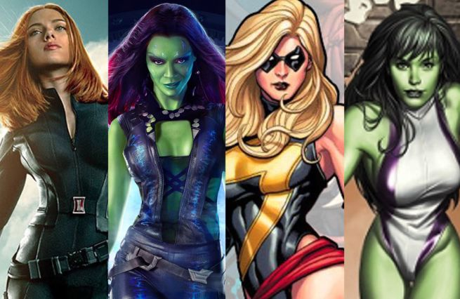 of superheroes Women marvel female