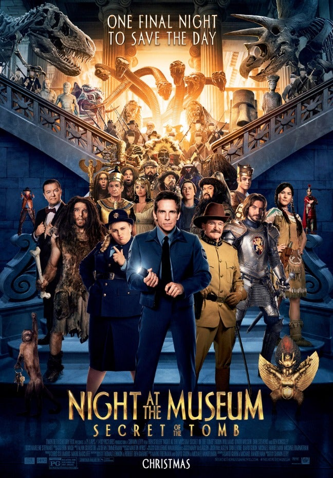 Night at the Museum: Secret of the Tomb's First Poster Revealed