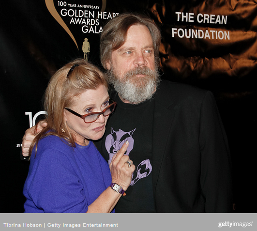 Star wars s carrie fisher and mark hamill hit the town hamill