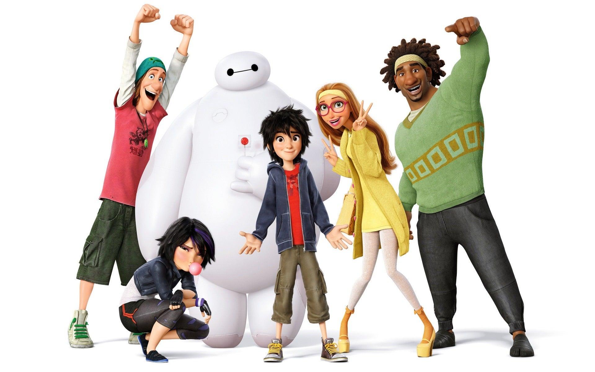 Big Hero 6 Anime Characters : Hand drawn big hero six trailer promotes opening in japan