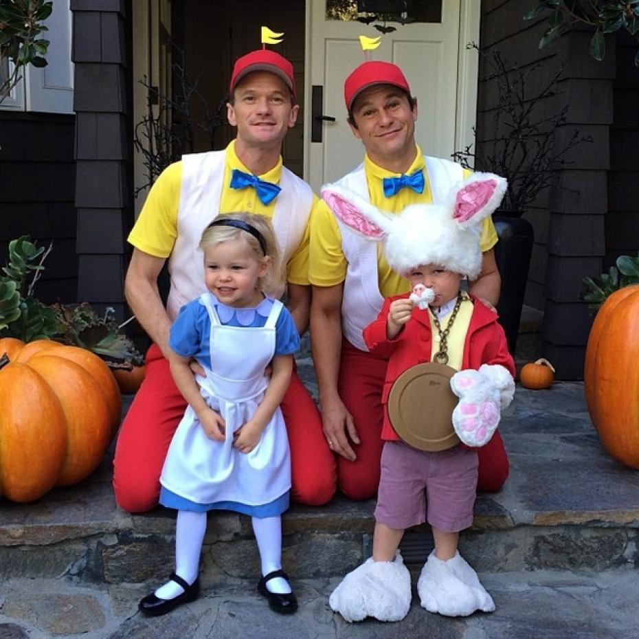 Neil Patrick Harris And Family Showcase Gotham Themed Costumes For ...