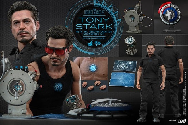 Iron Man 2: Tony Stark With Arc Reactor Creation Accessories Collectible  From Hot Toys Revealed