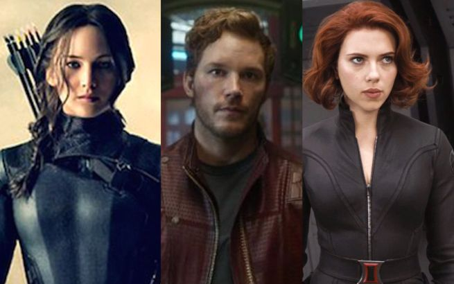 Jennifer Lawrence, Chris Pratt and Scarlett Johansson Are Top Grossing Actors of 2014