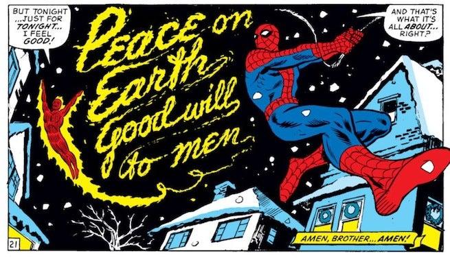 Marvel team up peace on earth