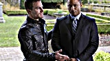 Oliver Queen Stephen Amell and John Diggle David Ramsey