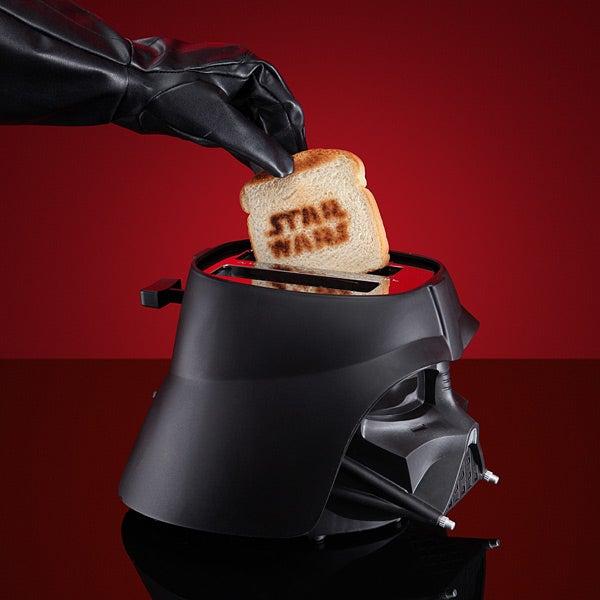 Darth Vader Toaster Burns Star Wars Logo Into Bread