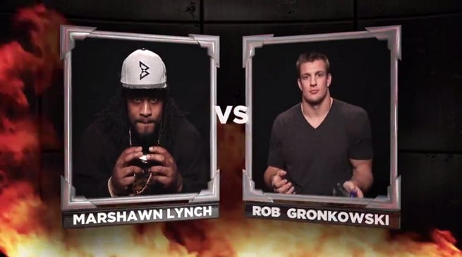 Mortal Kombat X - Marshawn Lynch & Rob Gronkowski Battle On Conan
