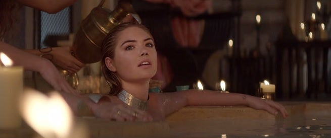 Game of war super bowl commercial featuring kate upton