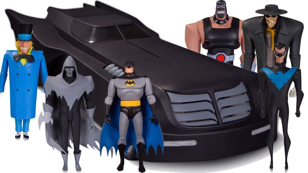 dc unveils new batman the animated series figures including the batmobile. Black Bedroom Furniture Sets. Home Design Ideas