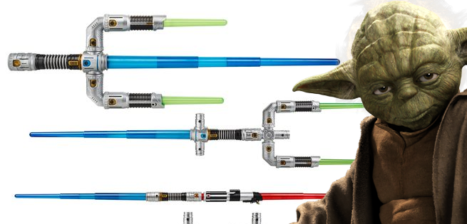 create your own lightsabers with hasbro s new star wars bladebuilders