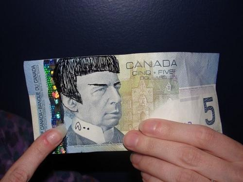 Bank Of Canada Says Spocking $5 Bill Is Not Illegal