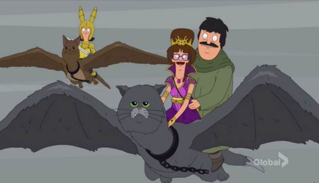 Bob's Burgers Did A Game Of Thrones Parody With Cat-Dragons