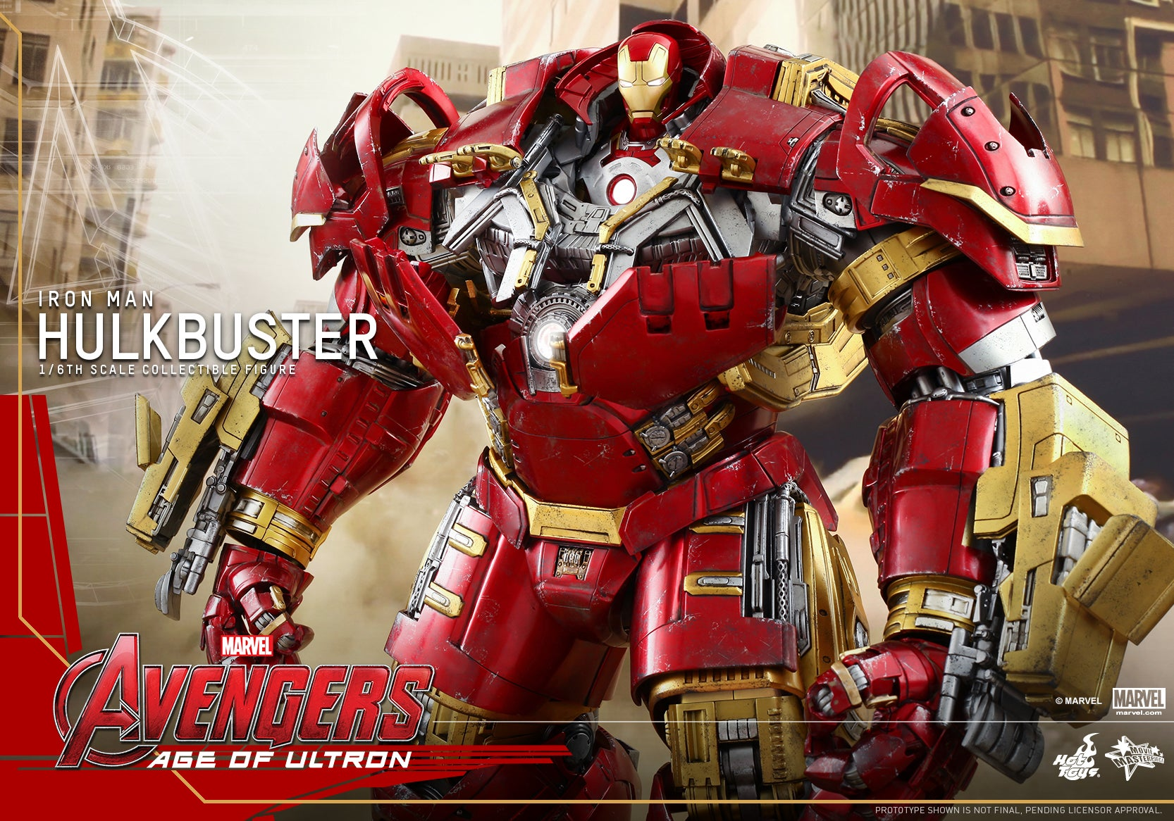 Hot Toys Reveals LED Light Up Function For Iron Man Hulkbuster Figure