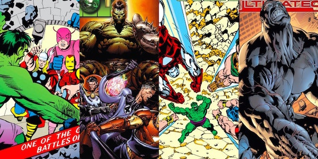 ain t easy being green 5 memorable times the hulk fought the avengers