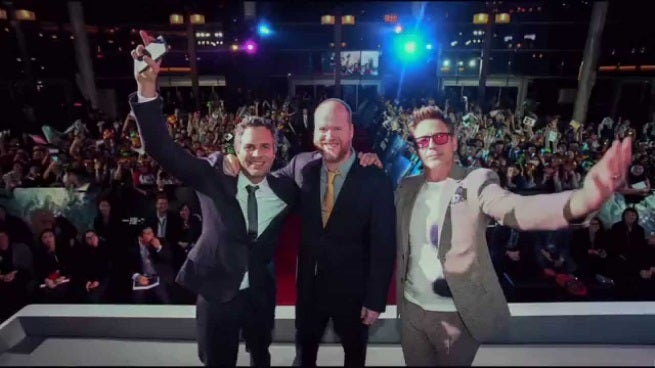 Avengers age of ultron global tour video released for Tour avengers