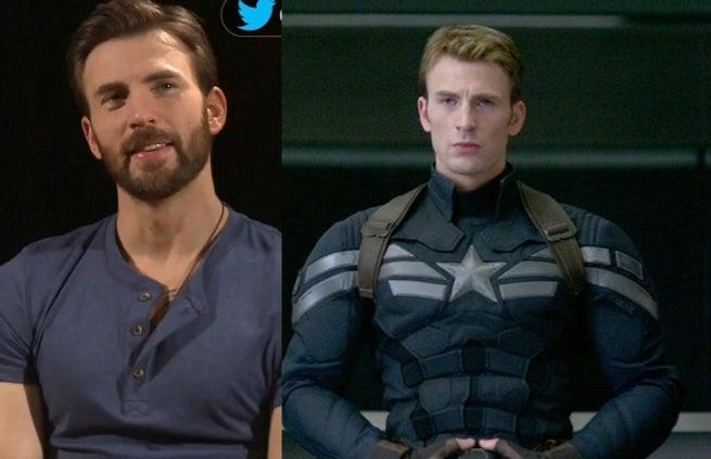 chris evans says goodbye to his beard for captain america