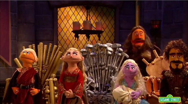 Sesame street parodies game of thrones for Chair of the fed game
