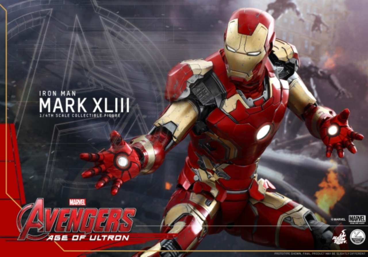Avengers age of ultron iron man mark xliii figure revealed by hot toys voltagebd Image collections