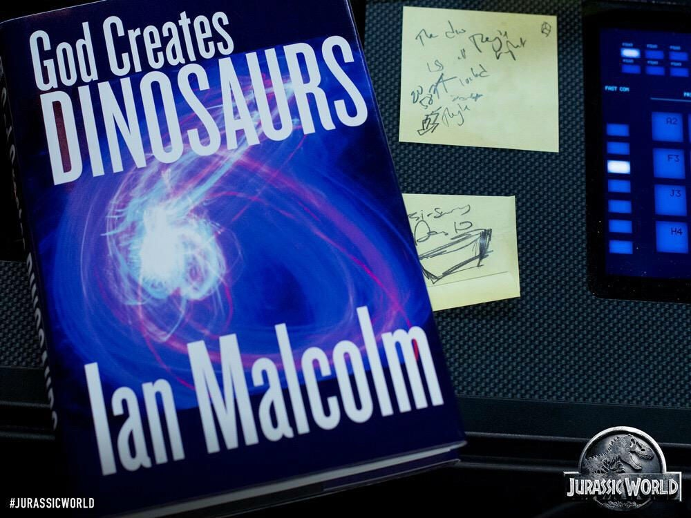 Jurassic World: First Look at Ian Malcolm's Book