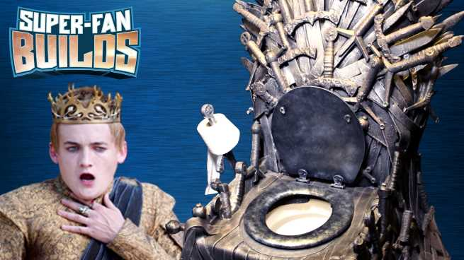 Super Fan Builds A Game Of Thrones Iron Throne Toilet