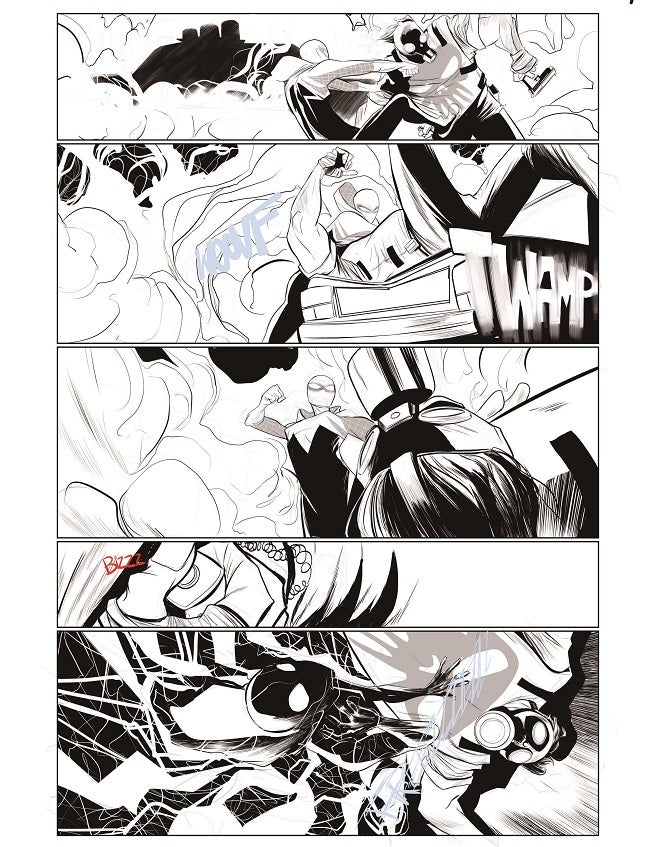 Spider-Gwen proof page from issue 3