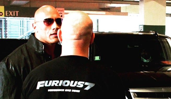 vin diesel teases working with the rock on fast furious 8. Black Bedroom Furniture Sets. Home Design Ideas
