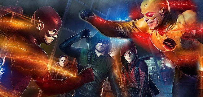 arrow amp the flash superhero fight club poster released