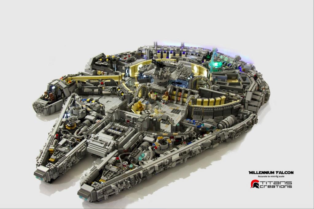This super detailed lego millennium falcon is jaw dropping for Interieur faucon millenium