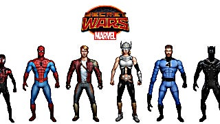 Secret Wars Battle Standees Detail