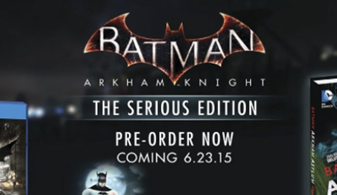 WB Games Releasing A Batman Arkham Knight Serious Edition