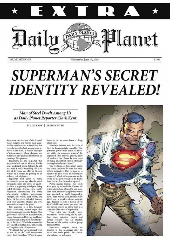 Lois Lane Article Revealing Superman As Clark Kent