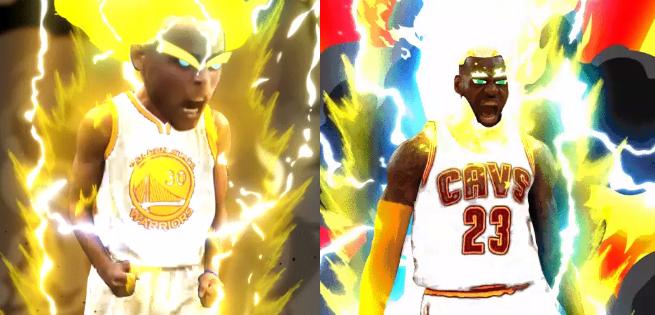 NBA Stars LeBron James & Steph Curry Go Super Saiyan In Dragon Ball Z Mashup