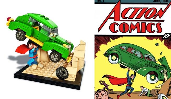 LEGO Superman Comic-Con Exclusive Set Smashes Through Action Comics #1