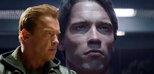 Terminator Genisys Clip: Arnold Schwarzenegger Confronts His Younger Self