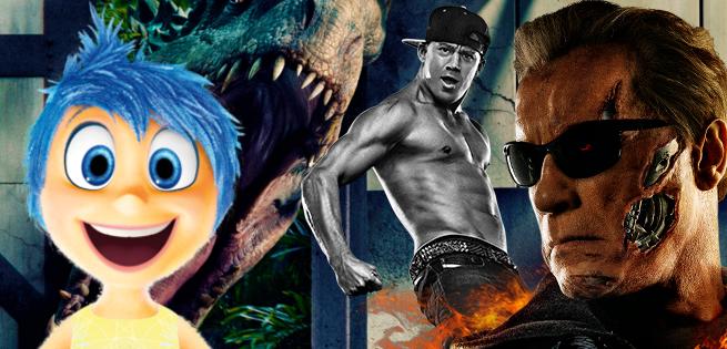 Box Office: Jurassic World & Inside Out Beat Terminator Genisys & Magic Mike XXL