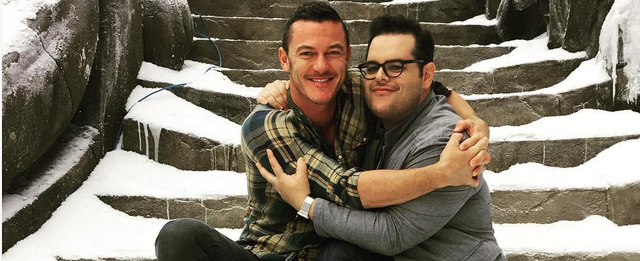Josh Gad Shares Beauty And The Beast Set Photo