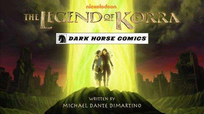 legend of korra series announced by dark horse