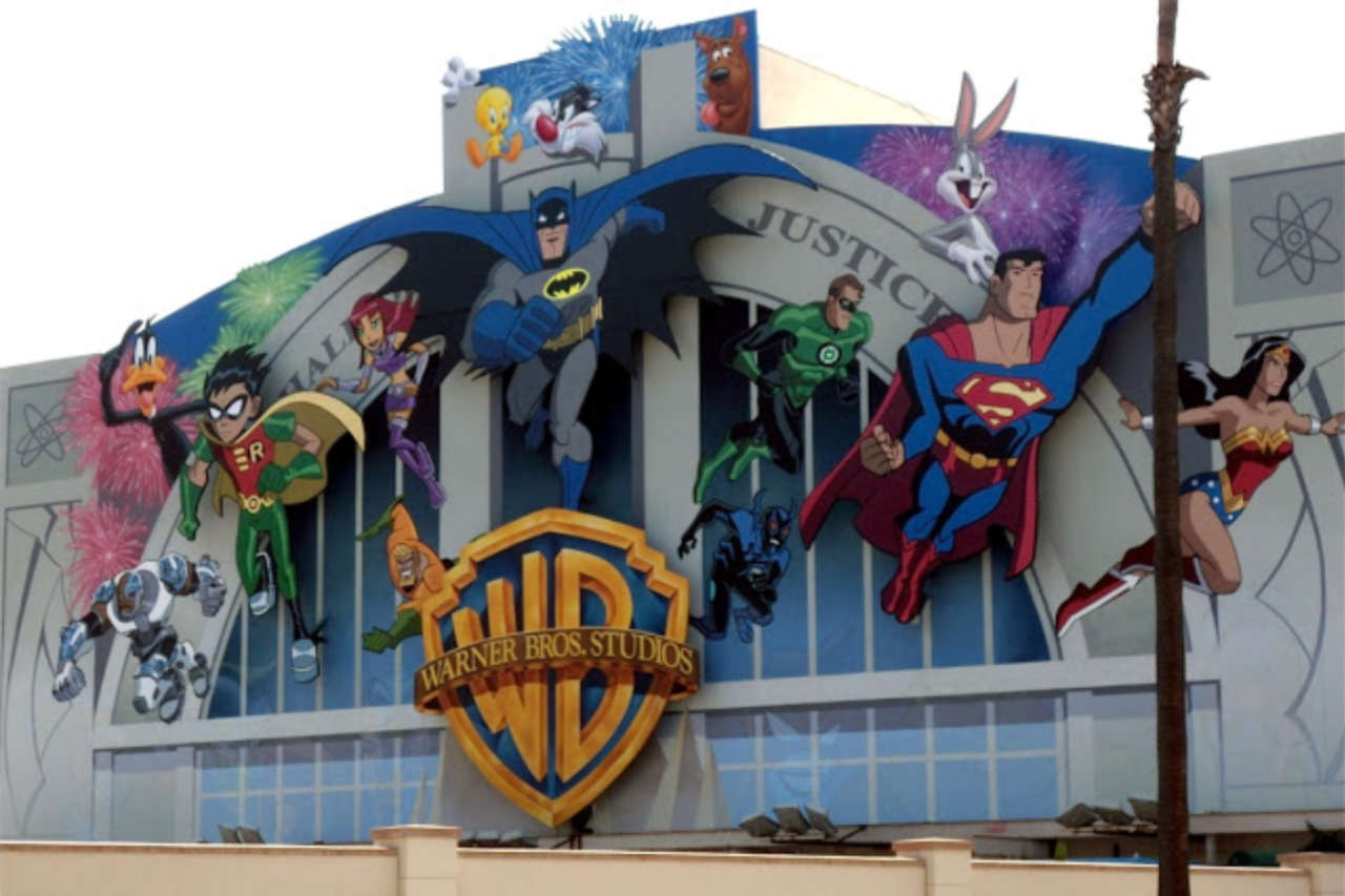 wb takes down famous dc animation mural from burbank lot